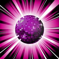 palla da discoteca lucida vettore