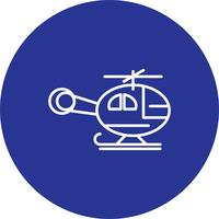 Icona di elicottero vettoriale