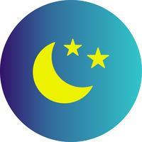 vettore stelle e icona della luna