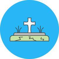 icona tomba vettoriale