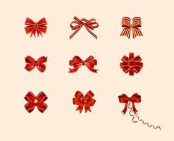 pacchetto di archi rossi vettore