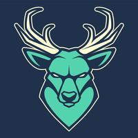 Icona di vettore della mascotte dei cervi