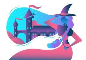 Scuola Wizard vettore