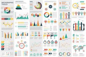 Modello di progettazione di vettore di visualizzazione di dati degli elementi di Infographic