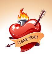 Arte vettoriale cuore