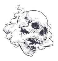 vaping skull art