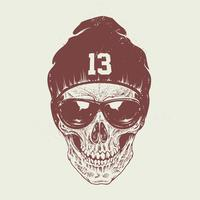 Dotwork skull art vettore