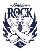 arte di vettore dell'emblema della roccia
