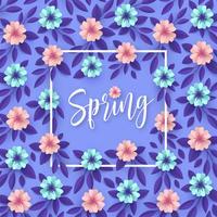 Fondo di arte di carta dei fiori della primavera