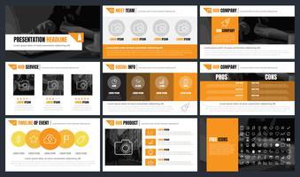 Fondo di vettore del fondo dei modelli di presentazioni di Infographics