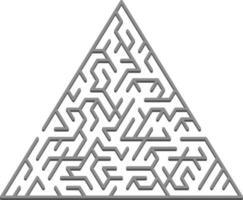 sfondo vettoriale con un labirinto 3d triangolare grigio, labirinto.