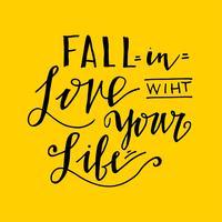 Innamorarsi della tua vita vettore