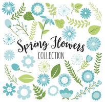 Fiori di primavera blu vettore
