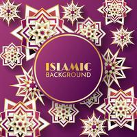 vettore del modello islamico della priorità bassa