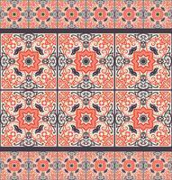 Tessera Talavera Vibrante modello senza cuciture messicano vettore
