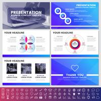 Elementi moderni di infografica per modelli di presentazioni per banner vettore