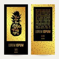 Banner di ananas d'oro vettore