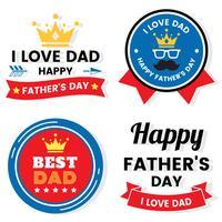 giorno del padre Compleanno vettoriale Logo per banner