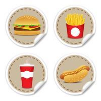Set fast food 9 vettore