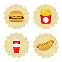 Set di fast food vettore