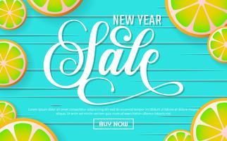 Fondo di vettore del fondo di vendita del nuovo anno