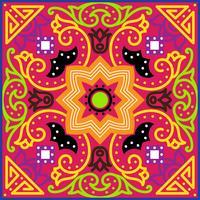 Tessera Talavera Vibrante modello senza cuciture messicano, vettore