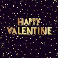Iscrizione della mano di San Valentino felice vettore