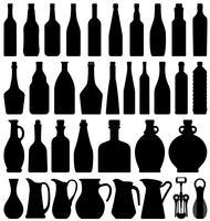 Bottiglia di birra per vino. vettore