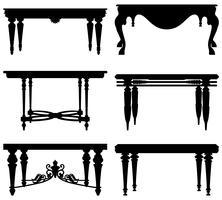 Antico tavolo classico antico.