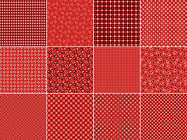 Modelli di bandana rossa vettore