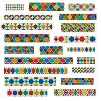 Clipart del nastro di Washi delle mattonelle marocchine vettore