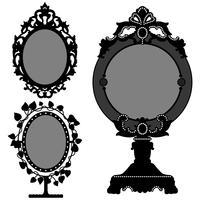 Specchi vintage decorati. vettore