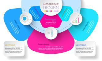 Infografica di affari con 3 passaggi. vettore