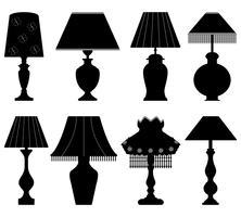 Set di lampade vettore