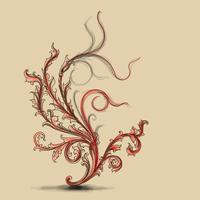 Fiori ornamentali belli e turbinii elemento di design.