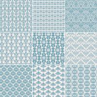 Pattern damascati blu vettore
