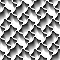 Modello geometrico astratto senza cuciture, carta da parati futuristica del confine di prateria, superficie grigia delle mattonelle 3d. vettore
