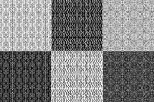 Modelli in ferro battuto bianco e nero vettore
