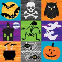 grafica di halloween strutturata