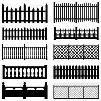 Set di immagini di recinzione. vettore