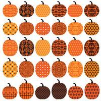 Zucche modellate di Halloween vettore