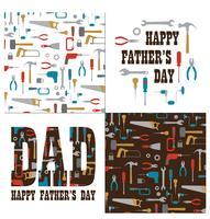 La grafica della festa del papà con gli strumenti vettore