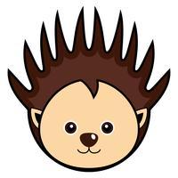 Cute Porcupine Vector.