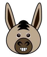 Cute Donkey Vector. vettore