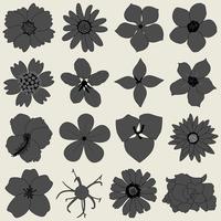 Icona di flora petalo di fiore. vettore