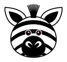 Carino Zebra Vector. vettore