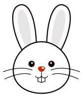 Vettore di coniglio carino.