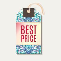 Tag per lo sconto Banner di vendita di Diwali.