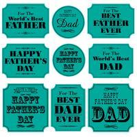 Grafica di cartelli blu giorno di padri
