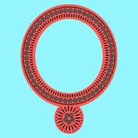 Abiti con colletto di gioielli geometrici e tribali. Disegni linea del collo